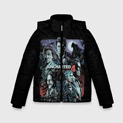 Куртка зимняя для мальчика Uncharted 4 цвета 3D-черный — фото 1