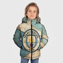 Детская зимняя куртка для мальчика с принтом FC Man City: Old Style, цвет: 3D-черный, артикул: 10153083706063 — фото 2