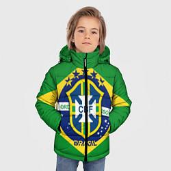 Детская зимняя куртка для мальчика с принтом CBF Brazil, цвет: 3D-черный, артикул: 10153088306063 — фото 2