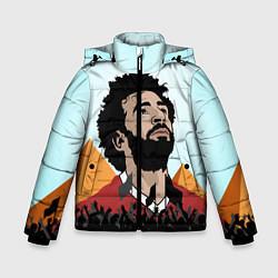 Куртка зимняя для мальчика Salah: Egypt King цвета 3D-черный — фото 1
