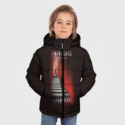 Куртка зимняя для мальчика Twin Peaks: Firewalk with me цвета 3D-черный — фото 2