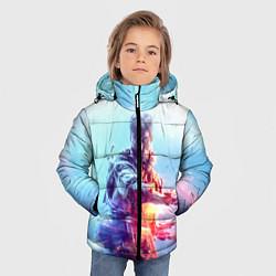 Куртка зимняя для мальчика Battlefield 5 цвета 3D-черный — фото 2
