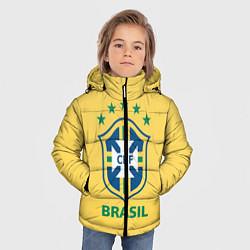 Куртка зимняя для мальчика Brazil Team цвета 3D-черный — фото 2