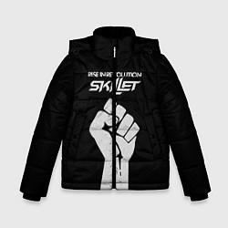 Куртка зимняя для мальчика Skillet: Rise in revolution цвета 3D-черный — фото 1