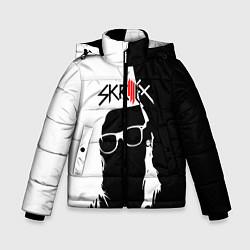 Куртка зимняя для мальчика Skrillex: Black & White цвета 3D-черный — фото 1