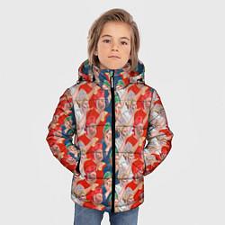 Детская зимняя куртка для мальчика с принтом Истинные фанаты России, цвет: 3D-черный, артикул: 10155766106063 — фото 2