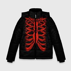 Куртка зимняя для мальчика Slipknot Skeleton цвета 3D-черный — фото 1