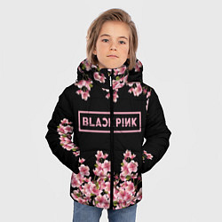 Куртка зимняя для мальчика Black Pink: Delicate Sakura цвета 3D-черный — фото 2