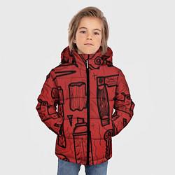 Детская зимняя куртка для мальчика с принтом Инструменты мужика, цвет: 3D-черный, артикул: 10158125706063 — фото 2