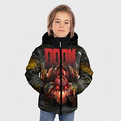 Куртка зимняя для мальчика DOOM: Pinky Monster цвета 3D-черный — фото 2