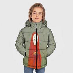 Куртка зимняя для мальчика Унесенные призраками цвета 3D-черный — фото 2