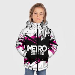 Детская зимняя куртка для мальчика с принтом Metro: Exodus Purple, цвет: 3D-черный, артикул: 10161592906063 — фото 2