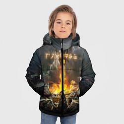 Куртка зимняя для мальчика TES: Dragon Flame цвета 3D-черный — фото 2