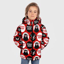 Детская зимняя куртка для мальчика с принтом Kumamon Pattern, цвет: 3D-черный, артикул: 10162550706063 — фото 2