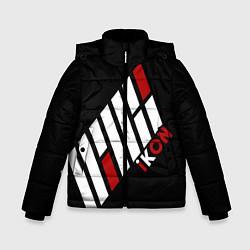 Куртка зимняя для мальчика IKON цвета 3D-черный — фото 1