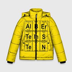 Куртка зимняя для мальчика Альберт Эйнштейн цвета 3D-черный — фото 1