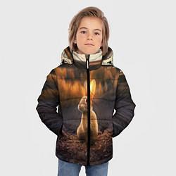 Куртка зимняя для мальчика Солнечный зайчик цвета 3D-черный — фото 2