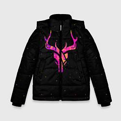 Куртка зимняя для мальчика Neon Deer цвета 3D-черный — фото 1
