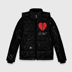 Куртка зимняя для мальчика Lil Peep: Broken Heart цвета 3D-черный — фото 1
