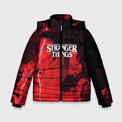 Куртка зимняя для мальчика Stranger Things: Red Dream цвета 3D-черный — фото 1
