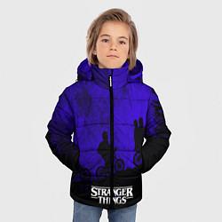 Куртка зимняя для мальчика Stranger Things: Moon Biker цвета 3D-черный — фото 2