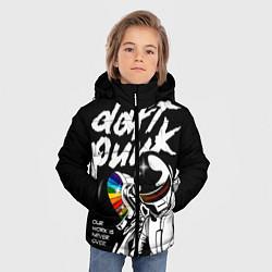 Детская зимняя куртка для мальчика с принтом Daft Punk: Our work is never over, цвет: 3D-черный, артикул: 10171349506063 — фото 2