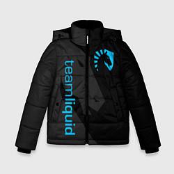 Куртка зимняя для мальчика TEAM LIQUID цвета 3D-черный — фото 1
