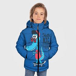 Куртка зимняя для мальчика Skate NYC цвета 3D-черный — фото 2