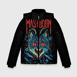 Детская зимняя куртка для мальчика с принтом Mastodon: Demonic Cat, цвет: 3D-черный, артикул: 10172767106063 — фото 1