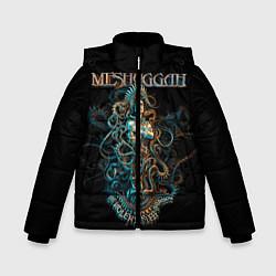 Детская зимняя куртка для мальчика с принтом Meshuggah: Violent Sleep, цвет: 3D-черный, артикул: 10172770706063 — фото 1