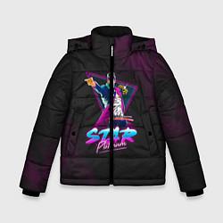 Куртка зимняя для мальчика JoJo: Star Platinum цвета 3D-черный — фото 1