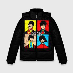 Куртка зимняя для мальчика The Beatles: Pop Art цвета 3D-черный — фото 1