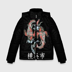 Куртка зимняя для мальчика Иокогама цвета 3D-черный — фото 1
