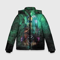 Куртка зимняя для мальчика Billie Eilish: Green Space цвета 3D-черный — фото 1