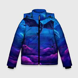 Куртка зимняя для мальчика Неоновая фурия цвета 3D-черный — фото 1