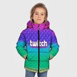 Куртка зимняя для мальчика Rainbow Twitch цвета 3D-черный — фото 2