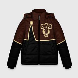Куртка зимняя для мальчика Черный Клевер: Мантия цвета 3D-черный — фото 1