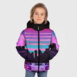Куртка зимняя для мальчика Racing 80s цвета 3D-черный — фото 2