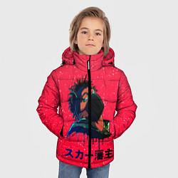Куртка зимняя для мальчика SCARLXRD Rap цвета 3D-черный — фото 2