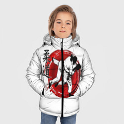 Куртка зимняя для мальчика Judo: Japan цвета 3D-черный — фото 2