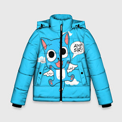 Куртка зимняя для мальчика Fairy Tail: Happy цвета 3D-черный — фото 1