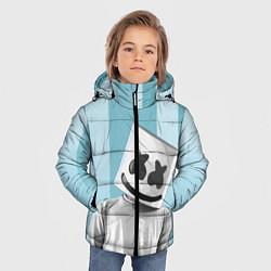 Куртка зимняя для мальчика Marshmello цвета 3D-черный — фото 2
