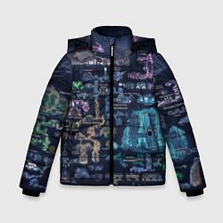 Куртка зимняя для мальчика HOLLOW KNIGHT WORLD цвета 3D-черный — фото 1