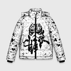 Куртка зимняя для мальчика Штурмовик чернилами цвета 3D-черный — фото 1