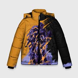 Куртка зимняя для мальчика Avengers цвета 3D-черный — фото 1