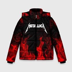 Куртка зимняя для мальчика METALLICA НА СПИНЕ цвета 3D-черный — фото 1