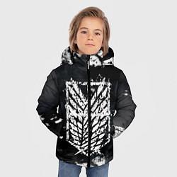 Куртка зимняя для мальчика АТАКА ТИТАНОВ цвета 3D-черный — фото 2