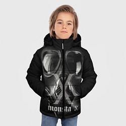 Детская зимняя куртка для мальчика с принтом Monsta X, цвет: 3D-черный, артикул: 10186857506063 — фото 2