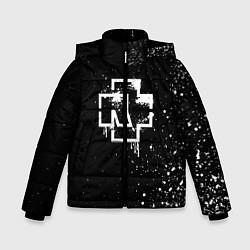 Куртка зимняя для мальчика Rammstein: White Logo цвета 3D-черный — фото 1