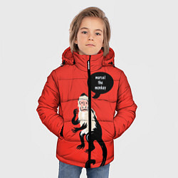 Куртка зимняя для мальчика Marcel the monkey цвета 3D-черный — фото 2